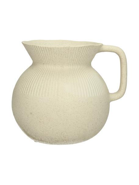Vaso vintage decorativo in porcellana Chysocolla, Porcellana, Beige, Larg. 17 x Alt. 15 cm