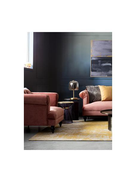 Poltrona in velluto rosa Blossom, Rivestimento: velluto di poliestere, Piedini: legno di albero della gom, Rosa cipria, Larg. 97 x Prof. 82 cm