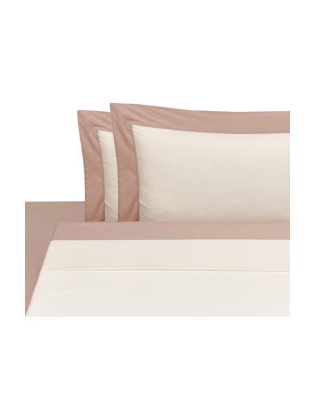 Set lenzuola in percalle Plein, Tessuto: percalle Il percalle è un, Rosa, bianco latteo, 260 x 295 cm + 2 federe 50 x 80 cm x lenzuola 180 x 200 cm