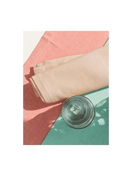 Tischläufer Riva in Koralle, 55% Baumwolle, 45% Polyester, Korallenrot, 40 x 145 cm