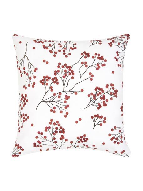Poszewka na poduszkę Berry, Bawełna, Czerwony, czarny, biały, S 40 x D 40 cm