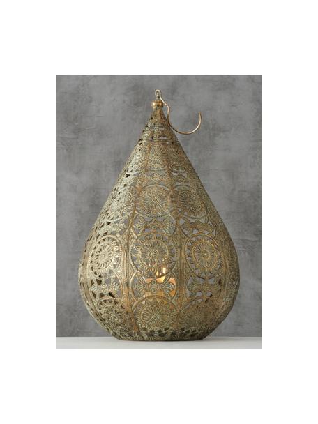 Świecznik Mauritius, Metal powlekany, Odcienie złotego z antycznym wykończeniem, S 22 x W 35 cm