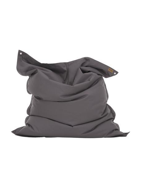 Duży worek do siedzenia Meadow, Tapicerka: poliester powlekany poliu, Antracytowy, S 130 x W 160 cm