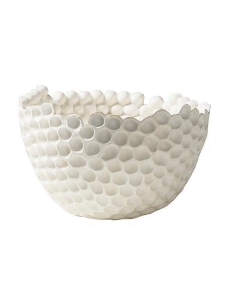 Miska dekoracyjna Norah, Tworzywo sztuczne, Biały, Ø 36 x W 23 cm