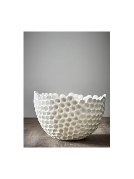 Ciotola decorativa Norah, Materiale sintetico, Bianco, Ø 36 x Alt. 23 cm
