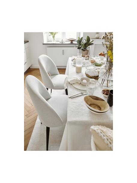 Sedia imbottita in velluto beige Rachel, Rivestimento: velluto (rivestimento in , Gambe: metallo verniciato a polv, Velluto beige, Larg. 53 x Prof. 57 cm