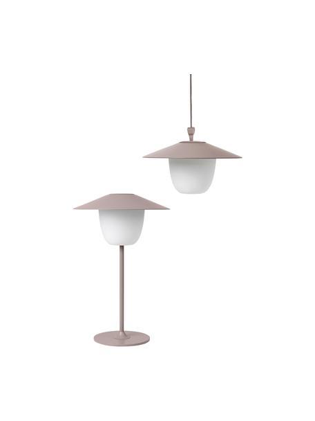 Lámpara para exterior LED Ani, portátil para colgar o de pie, Pantalla: aluminio, Cable: plástico, Rosa palo, Ø 22 x Al 33 cm