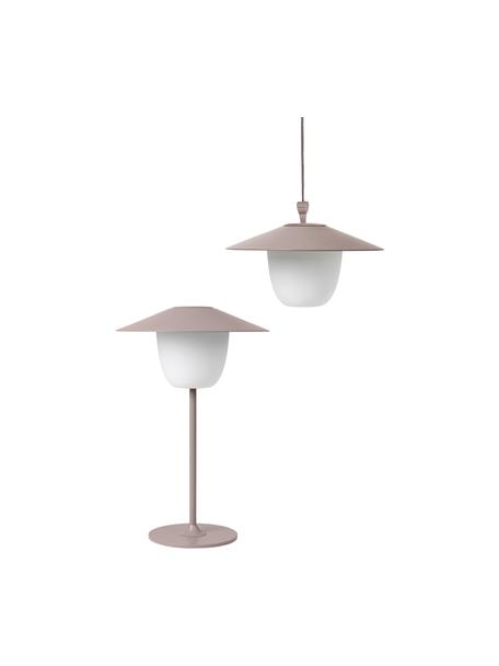 Mobilna lampa zewnętrzna LED Ani, Brudny różowy, Ø 22 x W 33 cm