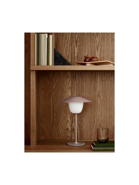 Lampada da esterno portatile e dimmerabile a LED Ani, Paralume: alluminio, Base della lampada: alluminio rivestito, Rosa cipria, Ø 22 x Alt. 33 cm