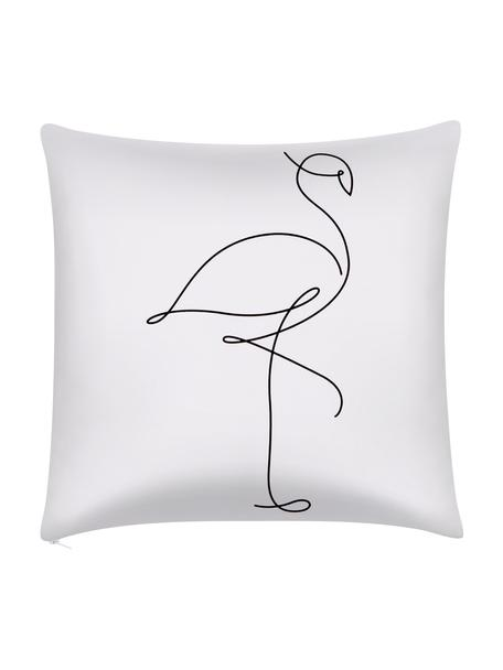 Poszewka na poduszkę Filomina, 100% bawełna, Biały, czarny, S 40 x D 40 cm