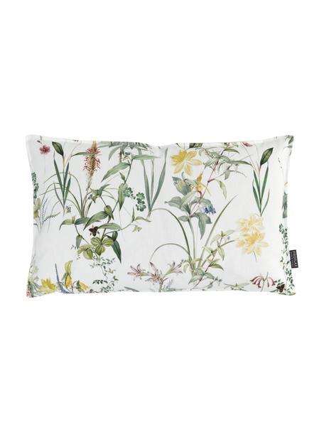 Federa arredo con stampa floreale Anjuli, 100% cotone, Bianco, multicolore, Larg. 30 x Lung. 50 cm
