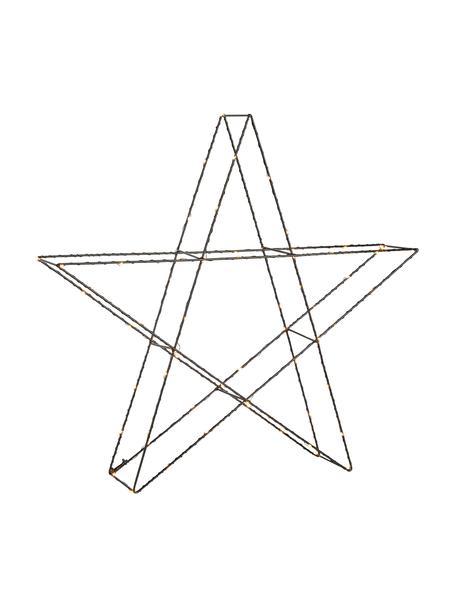 LED Leuchtstern Mystic Ø 55 cm, mit Stecker, Metall, lackiert, Schwarz, 55 x 55 cm