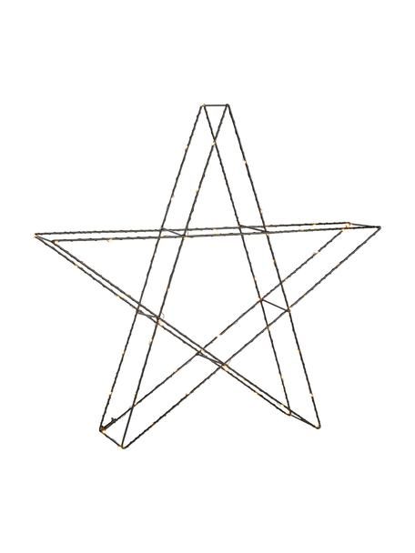 LED lichtobject Mystic, Gelakt metaal, Zwart, 55 x 55 cm