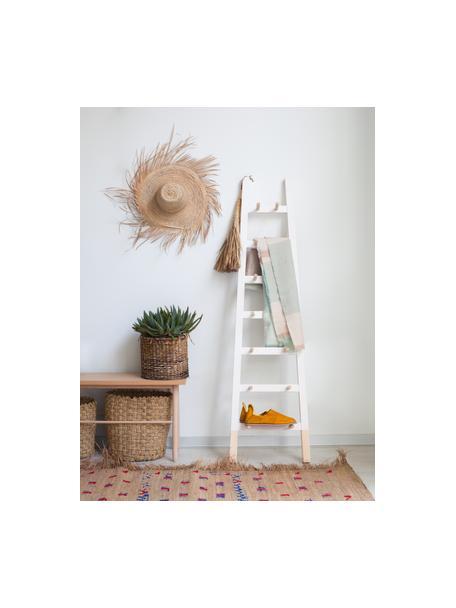Perchero escalera Agun, Madera de pino lacada, Blanco, An 46 x Al 170 cm