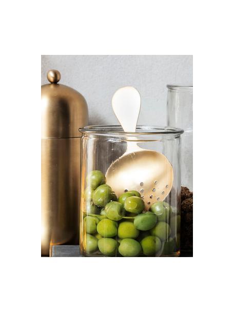 Cocktail-Sieb Alir in Gold, Edelstahl, beschichtet, Messingfarben, 9 x 17 cm