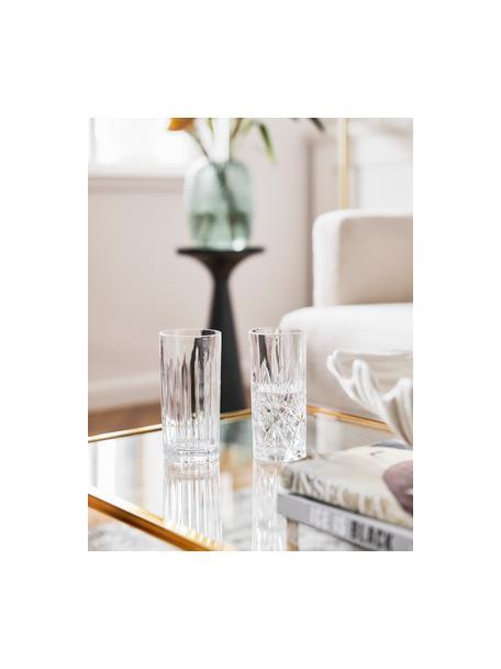 Vasos highball de cristal Timeless, 6uds., Cristal Luxion, Transparente, Ø 8 x Al 15 cm