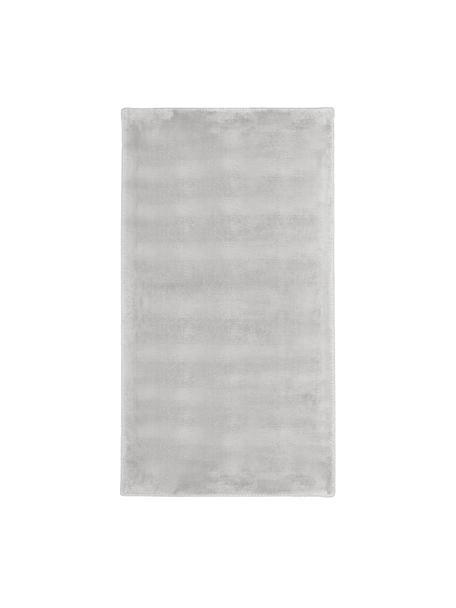 Tappeto in viscosa extra morbido Grace, Retro: 100% poliestere, Grigio, Larg. 80 x Lung. 150 cm (taglia XS)