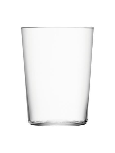 Vasos de cristal fino Gio, 6uds., Vidrio, Transparente, Ø 9 x Al 12 cm