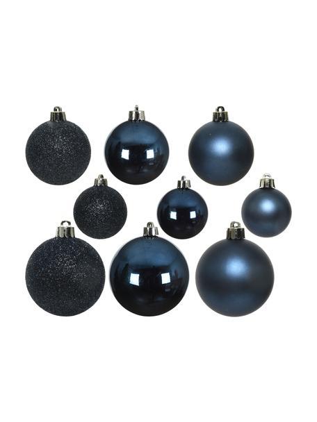 Bruchfestes Weihnachtskugel-Set Mona, 30-tlg., Blau, Set mit verschiedenen Größen