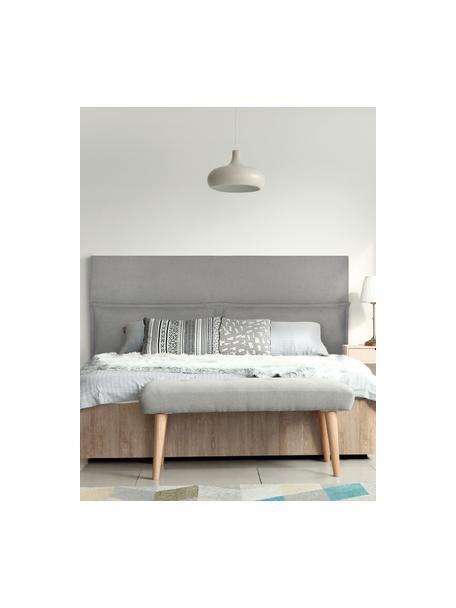 Cabecero Comfort, Estructura: madera de pino, madera co, Gris, An 160 x Al 80 cm