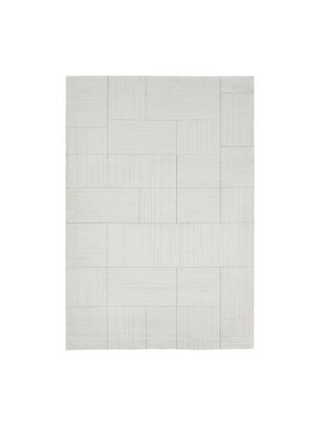 Pluizig hoogpolig vloerkleed Lawrence, 55% polyester, 45% polypropyleen, Natuurwit, beige, B 200 x L 290 cm (maat L)