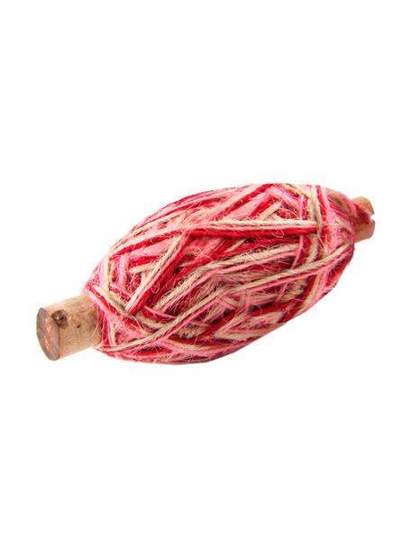 Corda per regali Flaxcord, Juta, Marrone chiaro, rosa, rosa, Lung. 50 m
