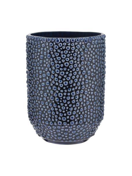Vaso decorativo in ceramica Ozean, Ceramica, Blu, Ø 15 x Alt. 21 cm