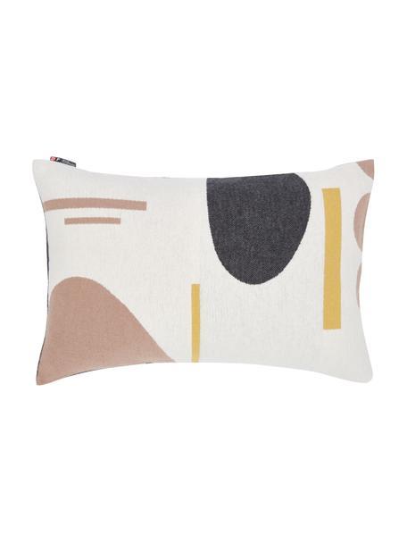 Poszewka na poduszkę Nova, 85% bawełna, 8% wiskoza, 7% poliakryl, Odcienie kremowego, wielobarwny, S 40 x D 60 cm