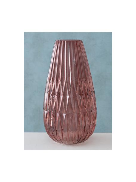 Vaso grande in vetro Rubina, Vetro colorato, Rosa, Ø 20 x Alt. 36 cm