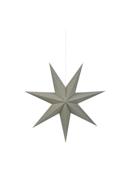 Estrella de Navidad Morris, con enchufe, Cable: plástico, Gris, Ø 75 cm