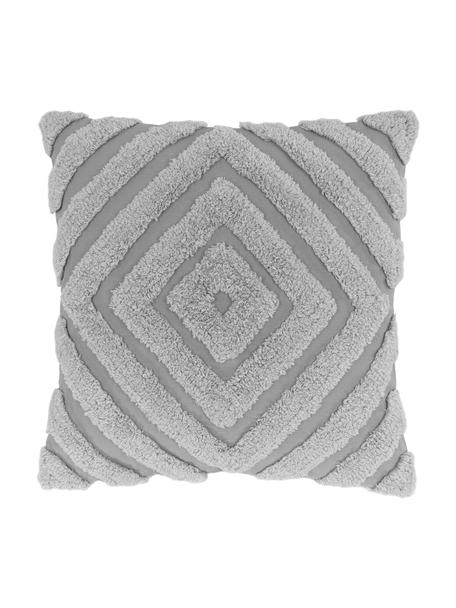 Poszewka na poduszkę Kara, 100% bawełna, Szary, S 50 x D 50 cm