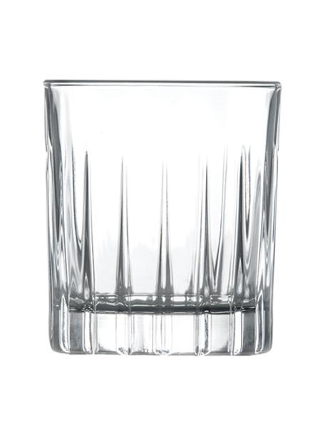 Vasos de chupito con relieve Timeless, 6uds., Cristal Luxion, Transparente, Ø 5 x Al 6 cm