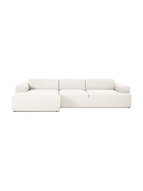 Sofa narożna Melva (4-osobowa), Tapicerka: poliester Dzięki tkaninie, Nogi: drewno sosnowe Nogi znajd, Beżowy, S 319 x G 144 cm