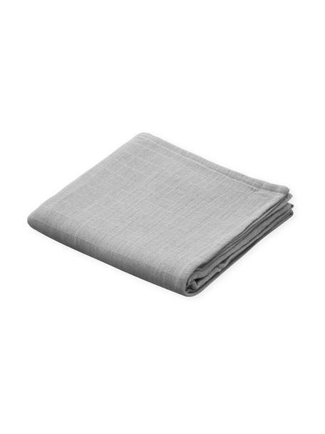 Mulltücher Muslin aus Bio-Baumwolle, 2 Stück, 100% Biobaumwolle, Grau, 70 x 70 cm