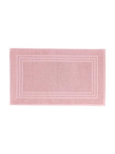 Eenkleurig badmat Gentle, 100% katoen, Roze, 50 x 80 cm