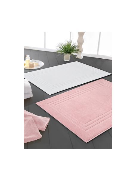 Einfarbiger Badvorleger Gentle, 100% Baumwolle, Rosa, 50 x 80 cm