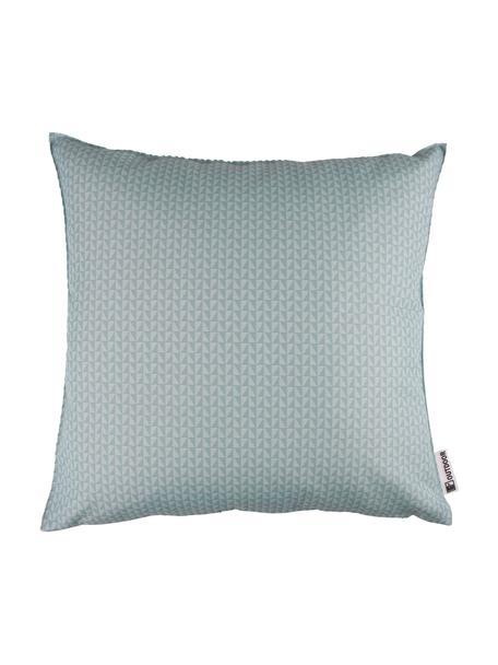 Outdoor kussen met patroon Rhombus, 100% polyester, Blauw, lichtblauw, 47 x 47 cm