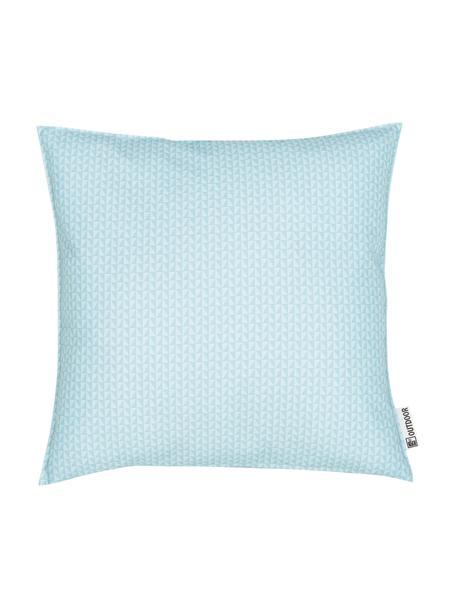 Gemustertes Outdoor-Kissen Rhombus, 100% Polyester, Blau, Hellblau, 47 x 47 cm