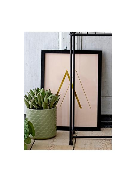 Plantenpot Liv van keramiek, Keramiek, Lichtgroen, Ø 16 x H 16 cm