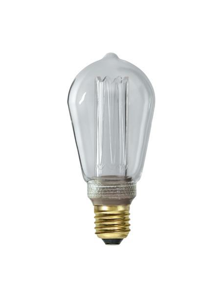 E27 Leuchtmittel, 90lm, dimmbar, warmweiß, 1 Stück, Leuchtmittelschirm: Glas, Leuchtmittelfassung: Aluminium, Transparent, Ø 6 x H 15 cm