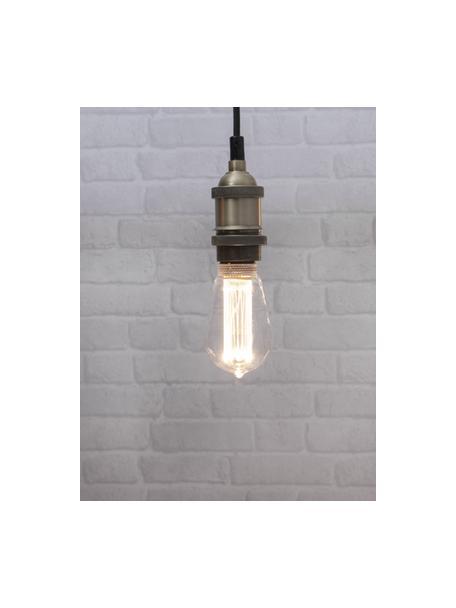 E27 Leuchtmittel, 2.5W, dimmbar, warmweiss, 1 Stück, Leuchtmittelschirm: Glas, Leuchtmittelfassung: Aluminium, Transparent, Ø 6 x H 15 cm