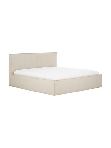 Gestoffeerd bed Dream met opbergruimte in donkere beige, Frame: Massief grenenhout en pla, Bekleding: 100% polyester (gestructu, Stof taupe, 140 x 200 cm