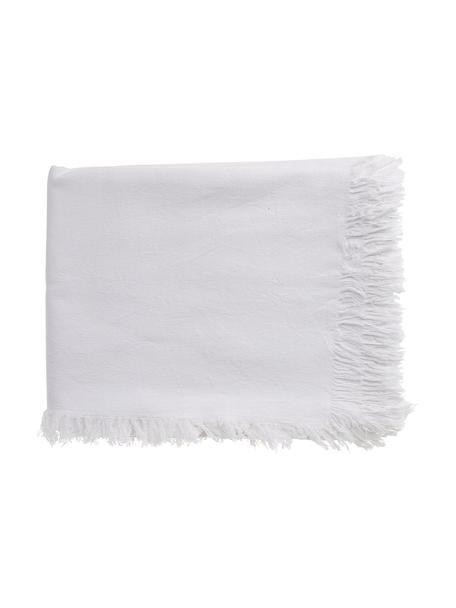 Tovaglia in cotone Nalia, 100% cotone, Bianco, Per 4-6 persone (Larg. 160 x Lung. 160 cm)