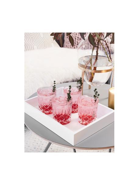 Hochglanz-Tablett Hayley in Weiß, verschiedene Größen, Tablett: Mitteldichte Holzfaserpla, Unterseite: Samtbezug, Weiß, L 33 cm