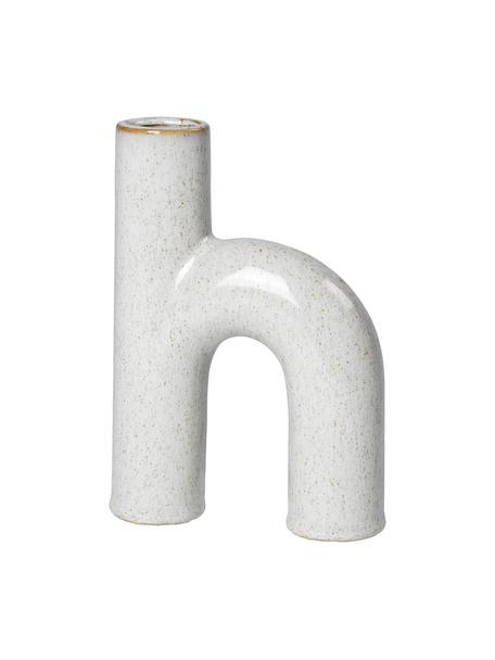 Design-Vase Hector aus Steingut, Steingut, Grau, 13 x 19 cm