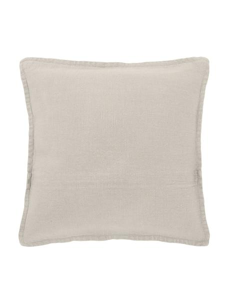 Federa arredo in lino beige Leona, 100% lino, Beige, Larg. 40 x Lung. 40 cm