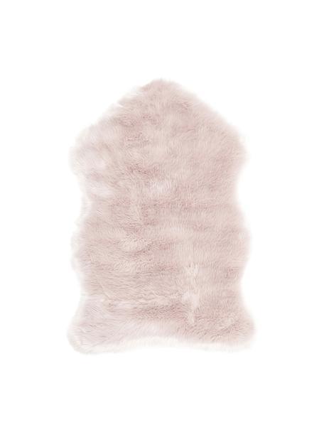 Sztuczne futro Mathilde, gładkie, Blady różowy, S 60 x D 90 cm