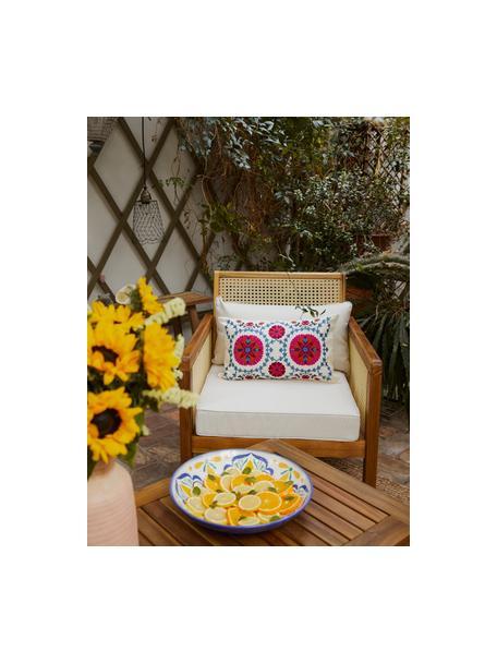 Haftowana  poszewka na poduszkę Tabula, 100% bawełna, Kremowobiały, wielobarwny, S 30 x D 50 cm