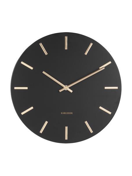 Reloj de pared grande Charm, Acero pintado, Negro, Ø 45