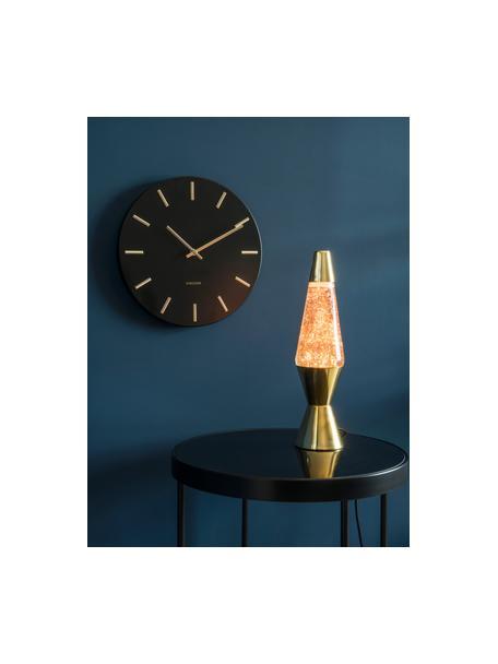 Reloj de pared Charm, Acero pintado, Negro, Ø 30 x F 4 cm